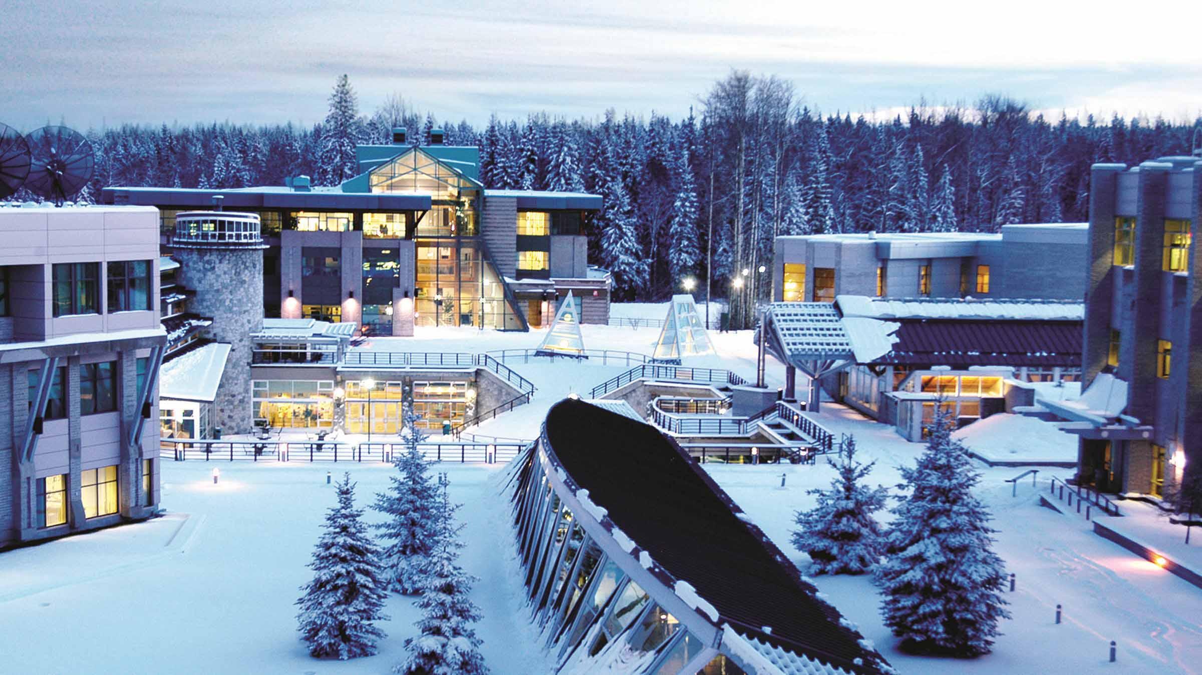 University of Northern British Columbia during Winter